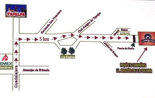 mapa rincon de la sierra